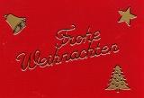 Sticker - Frohe Weihnachten - gold - 450