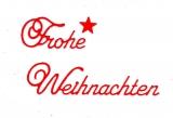 Sticker - Frohe Weihnachten - rot - 451