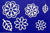 Sticker - Blumen 19 - weiß - 1113