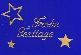 Sticker - Frohe Festtage - gold - 452