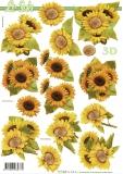 3D-Bogen Sonnenblumen von LeSuh (777.365)
