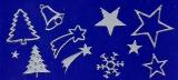 Sticker - Weihnachten 1 - silber - 853