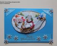 Sticker - Frohe Weihnachten + Ecken + Ränder - silber - 467