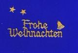 Sticker - Frohe Weihnachten - gold - 455