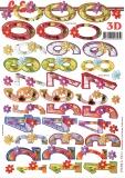3D-Bogen Lustige Zahlen von LeSuh (777.376)