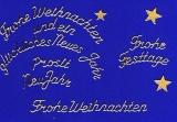 Sticker - Weihnachtliche Schriften - gold - 454
