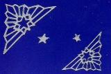 Sticker - Ecke mit Stern - silber - 962