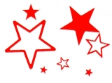 Sticker - Sterne 1 - rot - 856