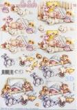 3D-Bogen Baby mit Plüschtieren von Nouvelle (8215550)