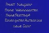 Sticker - Weihnachts- und Neujahrswünsche - silber - 457