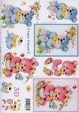 3D-Bogen Pastellbärchen von LeSuh (4169105)