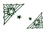 Sticker - Ecke mit Stern - dunkelgrün - 962