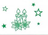 Sticker - Kerzen - grün - 862