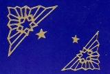 Sticker - Ecke mit Stern - gold - 962