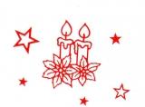 Sticker - Kerzen - rot - 862