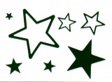 Sticker - Sterne 1 - dunkelgrün - 856