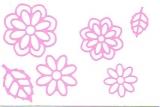 Sticker - Blumen 19 - rosa - 1113