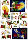 3D-Bogen Kerze, Glocke, Engel von LeSuh (4169204)