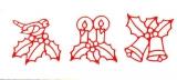Sticker - Kerzen und Glocken - rot - 959