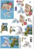 3D-Bogen Krippe & Tauben von LeSuh (416992)