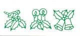 Sticker - Kerzen und Glocken - grün - 959