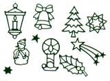 Sticker - Weihnachten 10 - dunkelgrün - 960