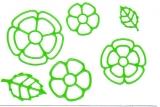 Sticker - Blumen 18 - hellgrün - 1114