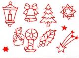 Sticker - Weihnachten 10 - 960 - rot