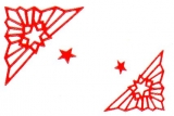Sticker - Ecke mit Stern - rot - 962