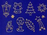 Sticker - Weihnachten - Motive - gold - 960