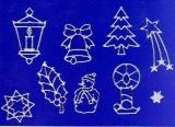 Sticker - Weihnachten - silber - 960