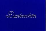 Sticker - Dankeschön - silber - 408