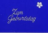 Sticker - Zum Geburtstag 1 - silber - 401