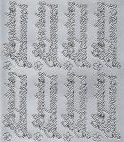Sticker - Herzlichen Glückwunsch 2 - silber - 400