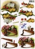 3D-Bogen Geige & Harfe von Nouvelle (821547)