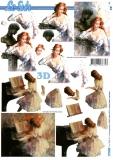 3D-Bogen Dame und Piano von LeSuh (777.039)