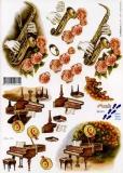3D-Bogen Saxophon & Flügelvon Nouvelle (821571)