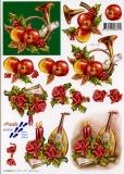 3D-Bogen Horn & Laute von Nouvelle (8215105)
