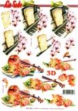 3D-Bogen Geige & Klavier von Nouvelle (8215486)