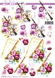 3D-Bogen Klarinette & Veilchen von Nouvelle (8215487)