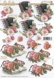 3D-Bogen Akkordeon & Rosen von Nouvelle (8215488)