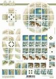 3D-Bogen Squares Rehe von LeSuh (630.200)