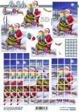 3D-Bogen Squares Weihnachtsmann von LeSuh (630.221)
