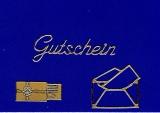 Sticker - Gutschein - gold - 417