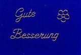 Sticker - Gute Besserung - gold - 409