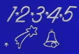 Sticker - Zahlen für Adventskalender - silber - 8525