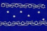 Sticker - Ränder Weihnachten 8 - silber - 986