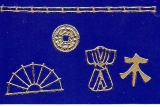 Sticker - Japanische  Motive - gold - 1087