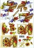 3D-Bogen Sonnenblumen & Obst von Nouvelle (821515)