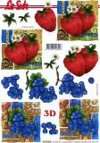 3D-Bogen Erdbeeren & Trauben von LeSuh (4169902)